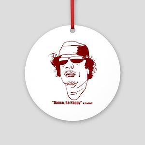 Moammar Gadhafi Ornament (Round)
