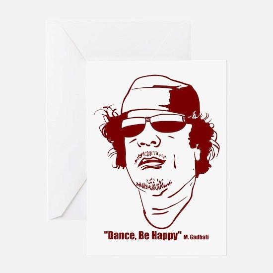 Moammar Gadhafi Greeting Card