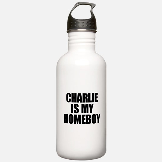 Charlie Is My Homeboy Water Bottle