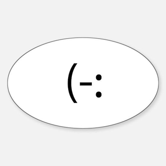 Left Handed Smilie Oval Decal
