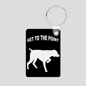 GET TO THE POINT Aluminum Photo Keychain