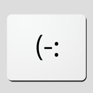Left Handed Smilie Mousepad