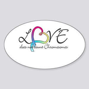 Love doesn't count Chromosome Sticker (Oval)