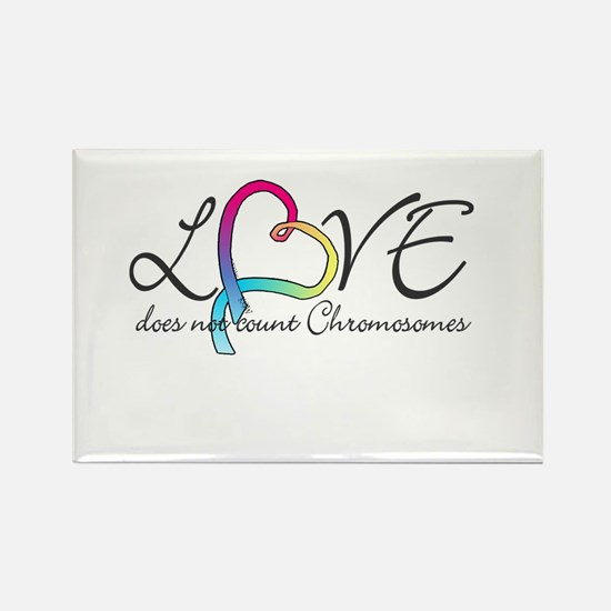 Love doesn't count Chromosome Rectangle Magnet (10