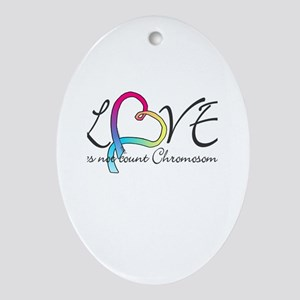 Love doesn't count Chromosome Ornament (Oval)