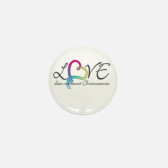 Love doesn't count Chromosome Mini Button