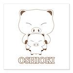 """oshioki Square Car Magnet 3"""" x 3"""""""