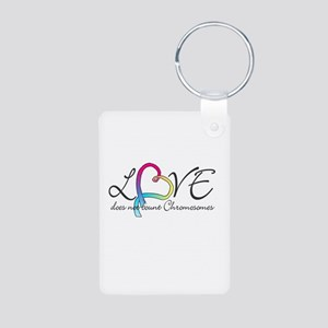 Love doesn't count Chromosome Aluminum Photo Keych