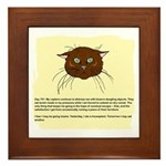 The Cat's Diary Framed Tile