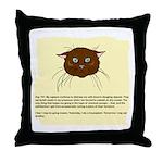 The Cat's Diary Throw Pillow