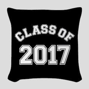 Class Of 2017 Woven Throw Pillow