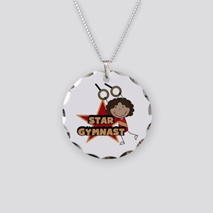 Star Gymnast Necklace Circle Charm