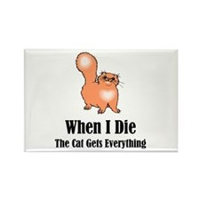 When I Die Rectangle Magnet