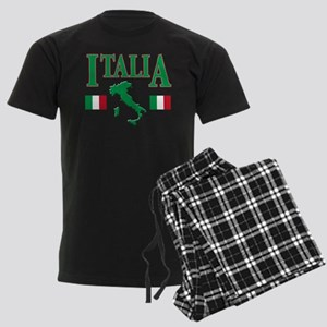 Italian pride Men's Dark Pajamas