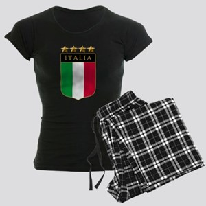 Italian 4 Star flag Women's Dark Pajamas