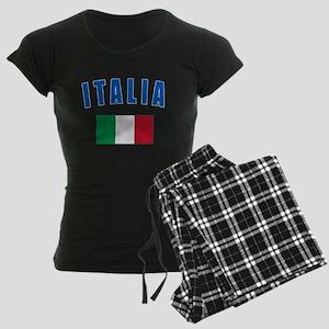 Italian Flag Women's Dark Pajamas