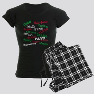 Italian Sayings Women's Dark Pajamas