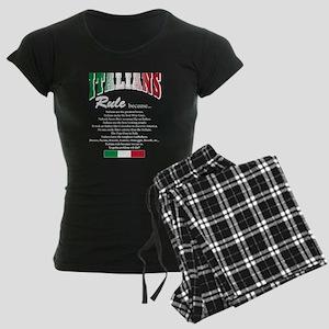 Italians Rules Women's Dark Pajamas