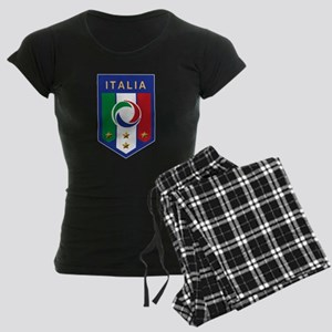 Italian Soccer emblem Women's Dark Pajamas