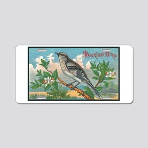 Mocking Bird Aluminum License Plate