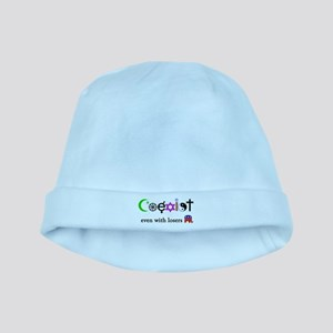 Co-Exist with Republicans baby hat