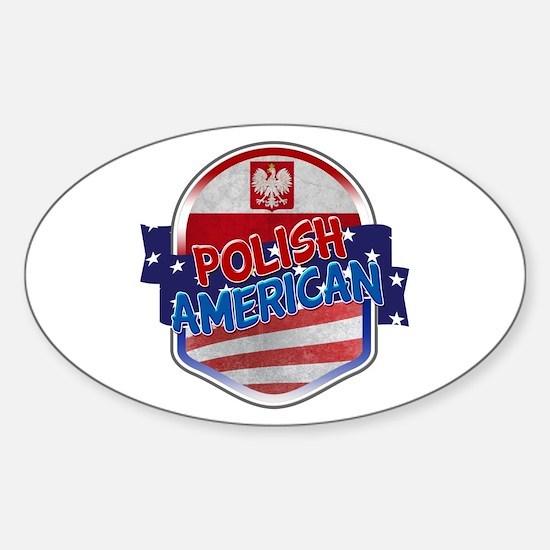 Polish American Sticker (Oval)