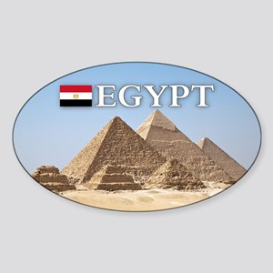 Giza Pyramids in Egypt Sticker (Oval)