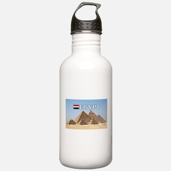 Giza Pyramids in Egypt Water Bottle
