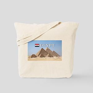 Giza Pyramids in Egypt Tote Bag