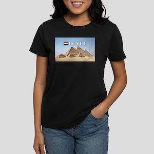 Giza Pyramids in Egypt Women's Dark T-Shirt