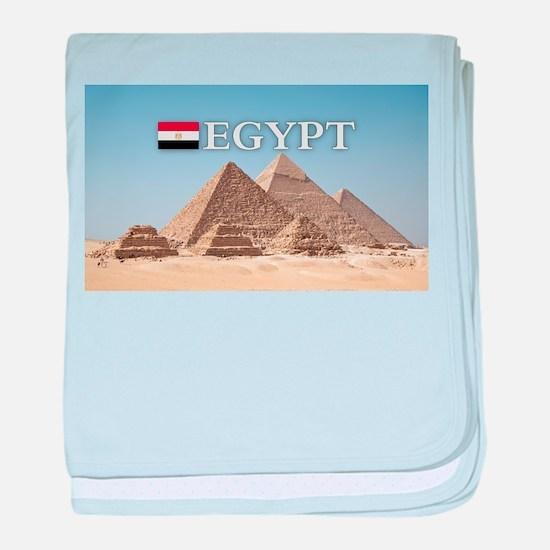 Giza Pyramids in Egypt baby blanket