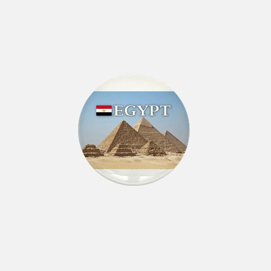 Giza Pyramids in Egypt Mini Button
