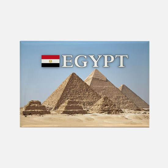Giza Pyramids in Egypt Rectangle Magnet