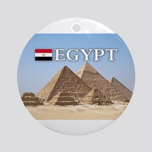 Giza Pyramids in Egypt Ornament (Round)