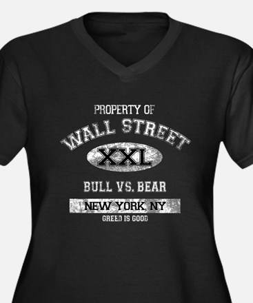 Property of Wall Street Women's Plus Size V-Neck D
