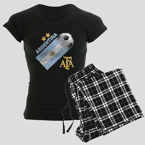 Argentina world cup soccer Women's Dark Pajamas