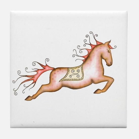 Capriole Horse Tile Coaster