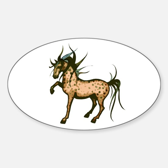 Wild and Free Horse Oval Decal