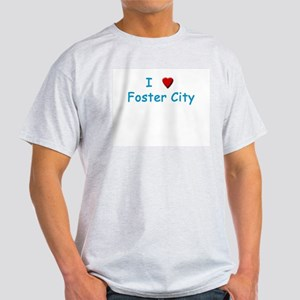 I Love Foster City - Ash Grey T-Shirt