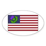 Scottish American Sticker (Oval 10 pk)