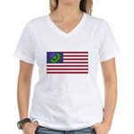 Scottish American Women's V-Neck T-Shirt
