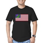 Scottish American Men's Fitted T-Shirt (dark)