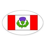 Scottish Canadian Sticker (Oval 10 pk)