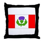 Scottish Canadian Throw Pillow