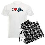 I Love Rocks Men's Light Pajamas