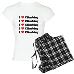 I Love Climbing (A lot) Women's Light Pajamas