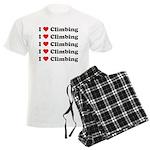 I Love Climbing (A lot) Men's Light Pajamas