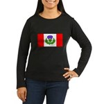 Scottish Canadian Women's Long Sleeve Dark T-Shirt
