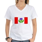 Scottish Canadian Women's V-Neck T-Shirt