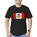Scottish Canadian Men's Fitted T-Shirt (dark)